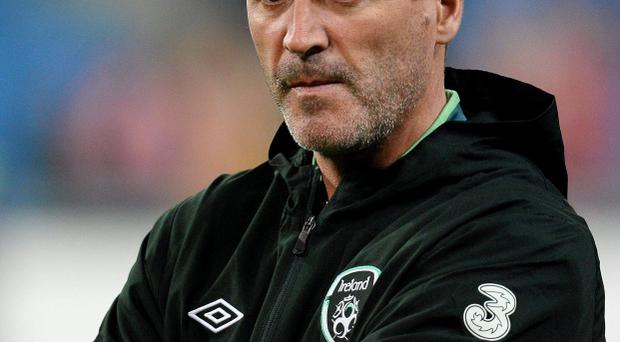 Republic of Ireland assistant manager Roy Keane during the pre-match warm up. Friendly International, Poland v Republic of Ireland, Municipal Stadium, Poznan, Poland. Picture credit: David Maher / SPORTSFILE