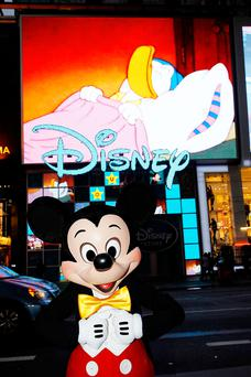 Mickey Mouse unveils Disney Store's in Times Square
