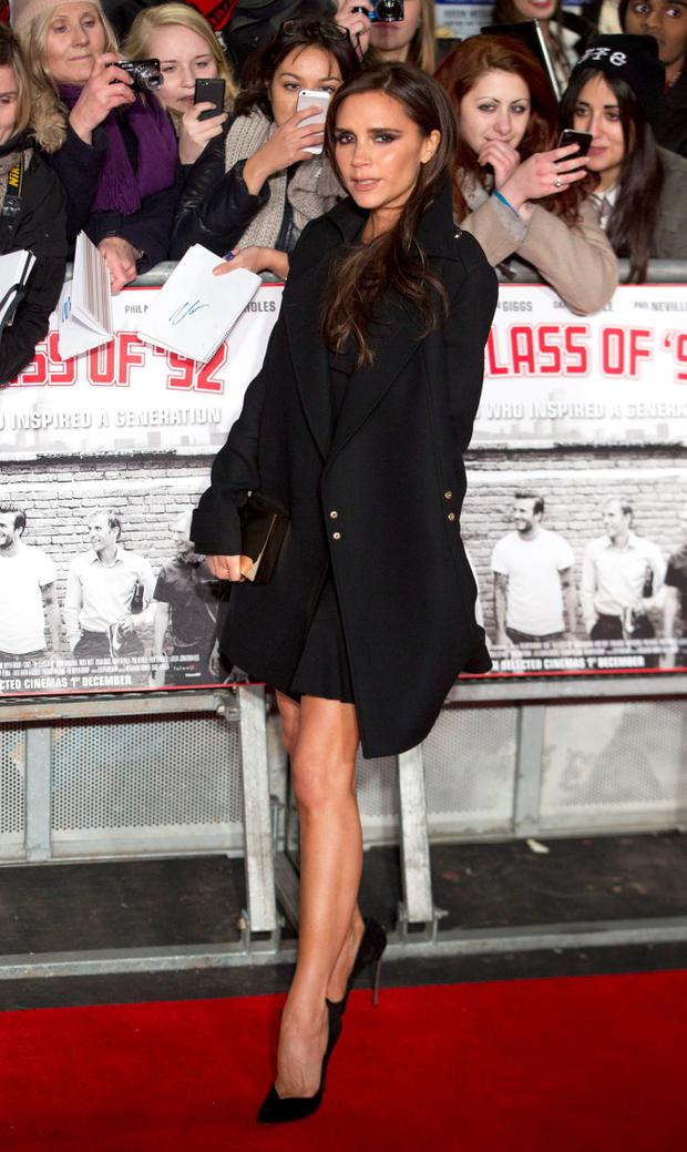 Former Spice Girls singer Victoria Beckham attends the world premier of the film