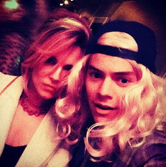 A surprising visitor - Harry Styles popped into the Delevingne sister's hen party unannounced. (Instagram/ Harry Styles)