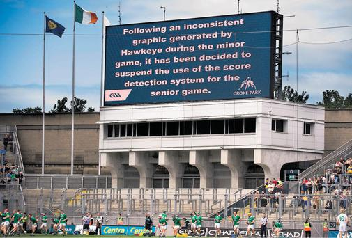 Glitch in the system: how the GAA communicated the temporary shutdown of Hawk-Eye at Croke Park.