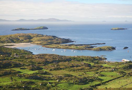 A view of the Atlantic Ocean from the Ring of Kerry
