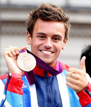 Diving star Tom Daley who said he