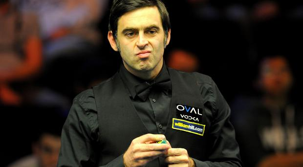 Ronnie O'Sullivan in action against Marcus Campbell, during day eight of the williamhill.com UK Championships at The Barbican Centre, York