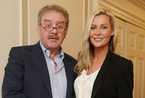 Michael Colgan with actress Alison Doody