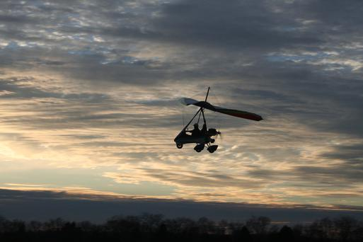 File picture of a microlight aircraft