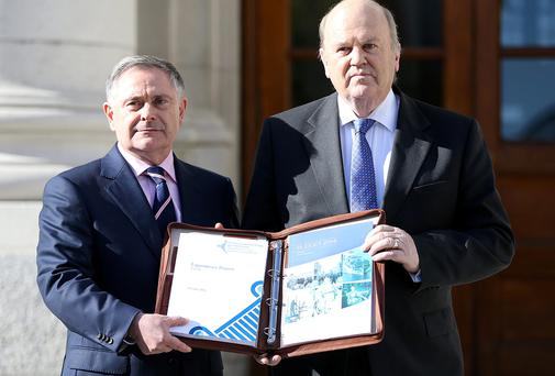 Minister for Finance, Michael Noonan, and Brendan Howlin, Minister for Expenditure and Public Reform