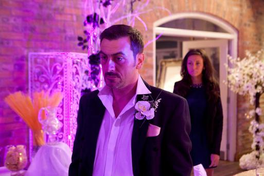 Peter has been trying to fight his feelings for the barmaid with his marriage to factory boss Carla Connor just days away. ITV/PA Wire