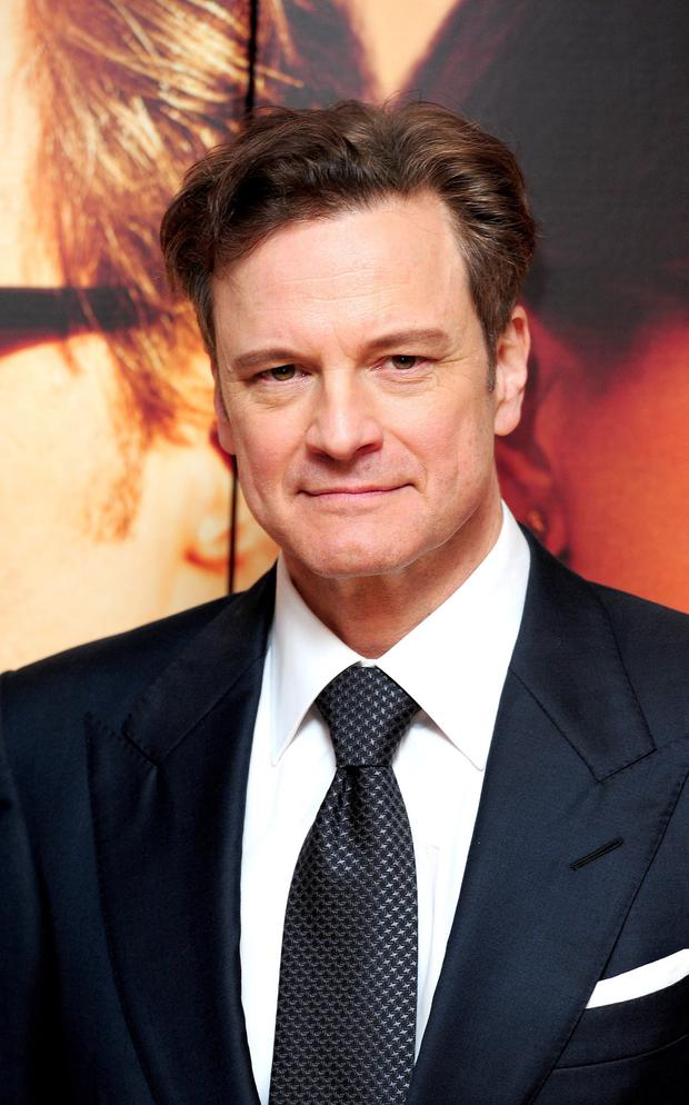 Colin Firth attending the UK film premiere of The Railway Man at the Odeon West End