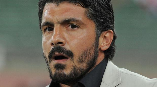 Gennaro Gattuso head coach of Palermo during the Serie B match between AS Bari and US Citta di Palermo at Stadio San Nicola on September 24, 2013 in Bari, Italy
