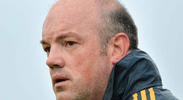 22 June 2013; Offaly manager Ollie Baker during the game. GAA Hurling All-Ireland Senior Championship Preliminary Round, Offaly v Waterford, O'Connor Park, Tullamore, Co. Offaly. Picture credit: Barry Cregg / SPORTSFILE