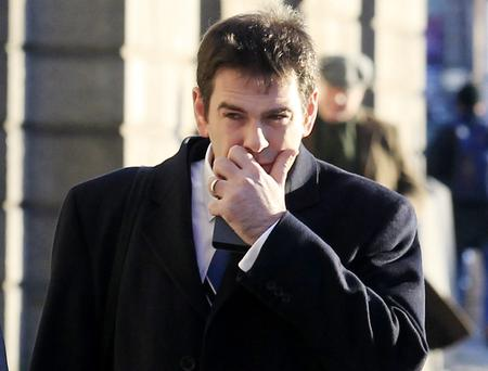 Sean Quinn Jnr arriving at the High Court. Courtpix