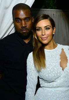 Kanye West and Kim Kardashian attend DuJour Magazine's event to honor artist Marc Quinn