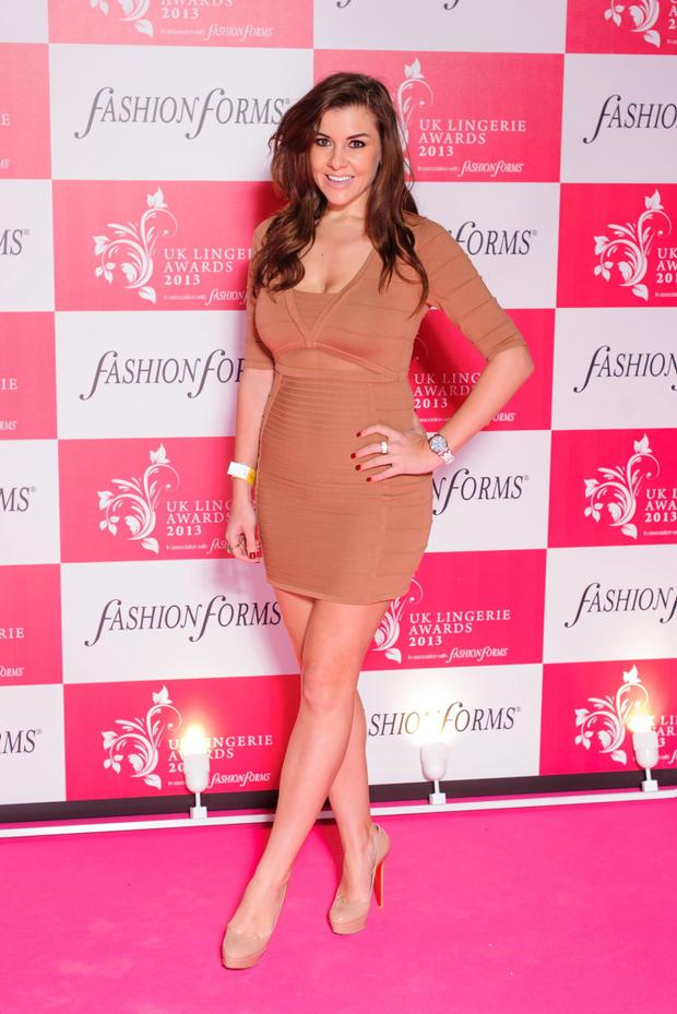 Imogen Thomas arriving at the UK Lingerie Awards at Freemasons Hall, London.PRESS ASSOCIATION Photo. Picture date: Wednesday December 4, 2013. Photo credit should read: Dominic Lipinski/PA Wire