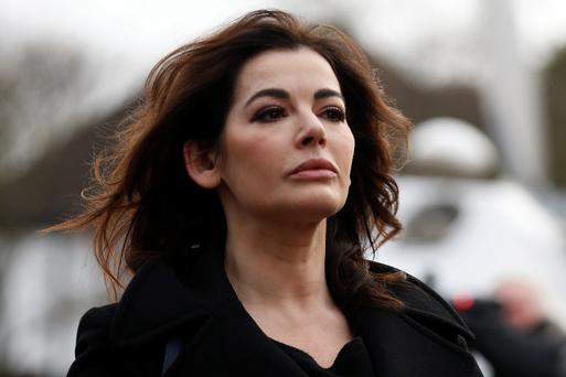 Nigella Lawson, arrives at Isleworth Crown Court in London.