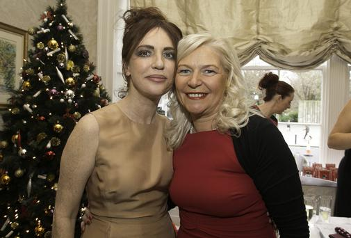 Morah Ryan and Linda Keating at the Maire Keating foundation Christmas lunch sponsored by Newstalk at the Shelbourne Hotel, Dublin. Photo: Gareth Chaney Collins