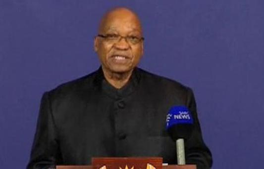 South African President Jacob Zuma announced the news of Nelson Mandela's death today.