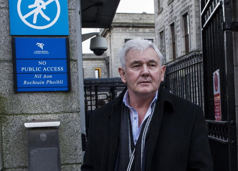 John Gilligan outside the Four Courts today