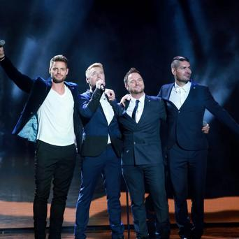 20/11/13 Boyzone at the Childline concert at the O2 in Dublin. Picture:Arthur Carron/Collins