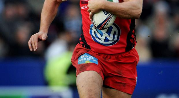 Toulon's Jonny Wilkinson during the Heineken Cup match at Sandy Park