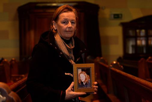 Sally Campbell with a photo of her late son Francis, who died at 24. Photo: Caroline Quinn