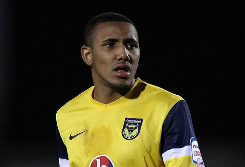 Footballer Cristian Montano playing for Oxford United in 2012. He was named in the newspaper investigation.