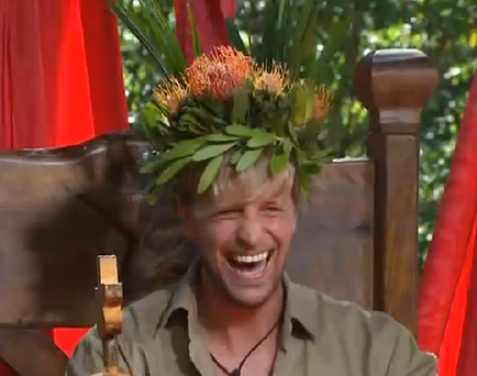 Egan ate Ostrich anus in a tapas dish for his final bushtucker trial.
