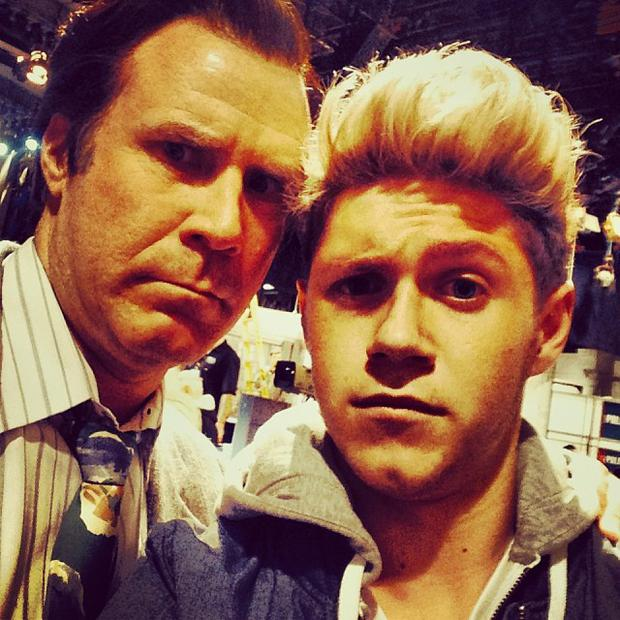 Niall Horan with Anchorman star Will Ferrell