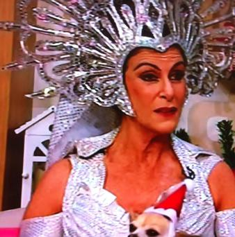 Linda Martin visited Alan in full panto garb on TV3 this morning.