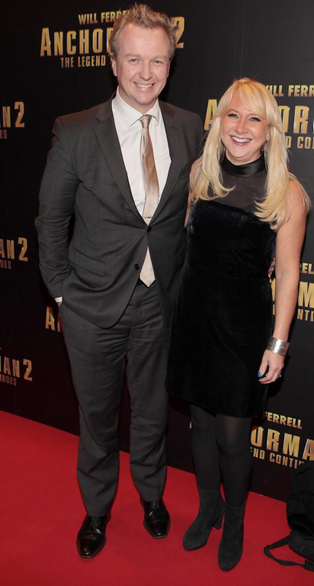 Matt Cooer and Aileen Cooper tonight at The Irish Premiere of Anchorman 2 : The Legend Continues at The Savoy Cinema Dublin. Picture: Brian McEvoy