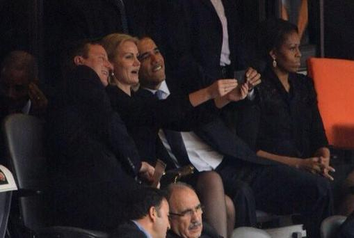 Obama is already feeling the backlash as the whole world does a collective tut-tut, to this image.
