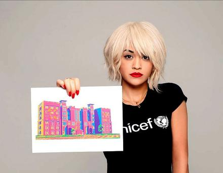 Rita Ora who has joined other celebrities in making a short film to encourage the UK public to support UNICEF UK's Syria Winter Appeal. Photo: UNICEF/PA Wire