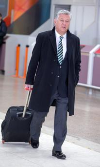 Celtic Chief Executive Peter Lawwell at Glasgow Airport, Glasgow