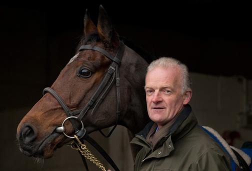 Willie Mullins with Hurricane Fly