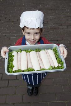 Pictured at FSAI launch was young butcher Jack Porter, aged 4