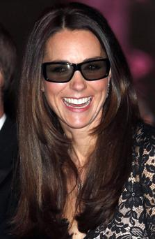 LONDON, ENGLAND - DECEMBER 11: Catherine, Duchess of Cambridge wears 3D glasses before a screening of David Attenborough's Natural History Museum Alive 3D at Natural History Museum on December 11, 2013 in London, England. (Photo by Suzanne Plunkett - WPA Pool/ Getty Images)