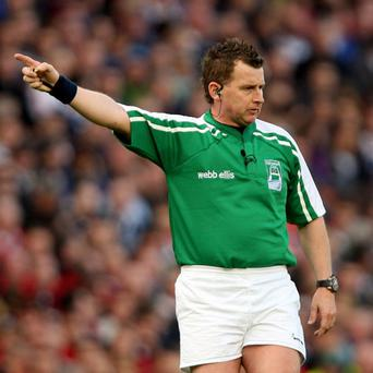 Heineken Cup Semi-Final 2/5/2009 Leinster Referee Nigel Owens Mandatory Credit ©INPHO/James Crombie *** Local Caption ***