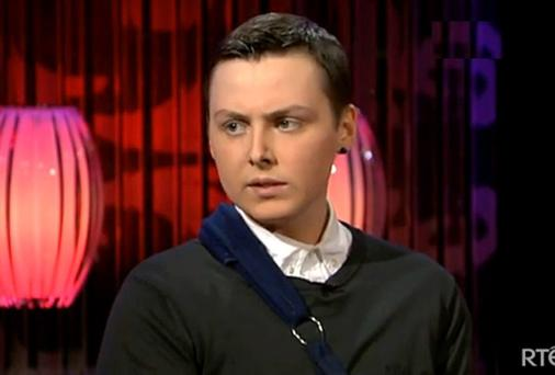 Donal Walsh during his appearance on RTE's Saturday Night SHow with Brendan O'Connoe. Picture courtesy RTE