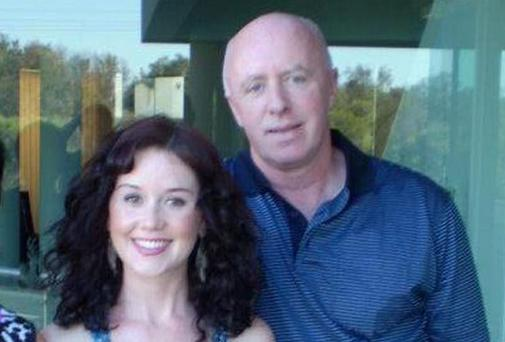 Jill Meagher with her father George