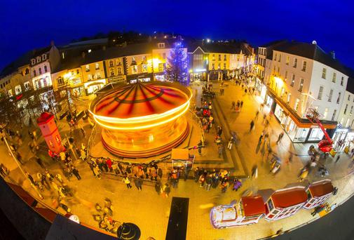 John Roberts Square, Waterford City during Winterval. Photo: Patrick Browne