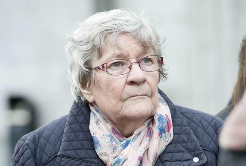 Peggy Ryder at Galway Coroner Court for the inquest into her husband's death. Photo: Andrew Downes