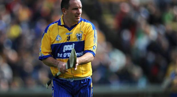 Colin Lynch in action for Clare in 2008