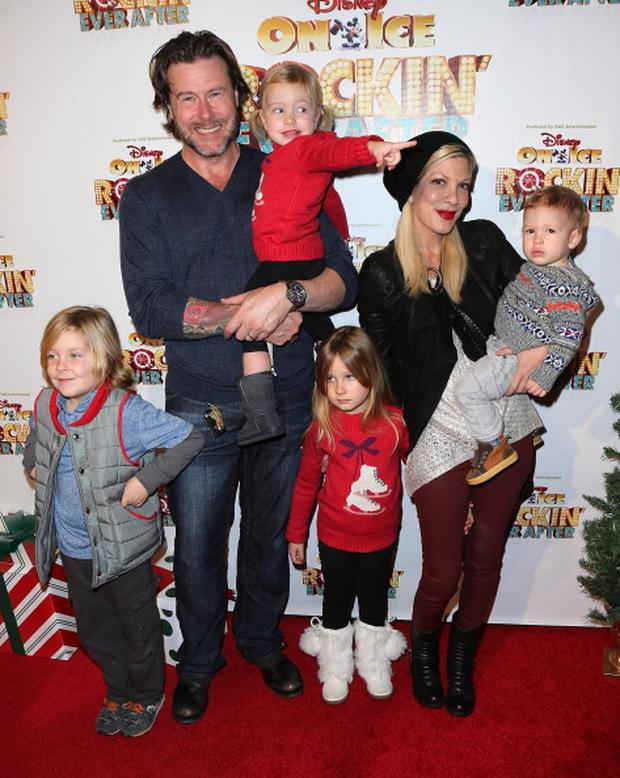 Tori and Dean have four children together, Liam, six, Stella, five, Hattie, two, and Finn, 16 months.