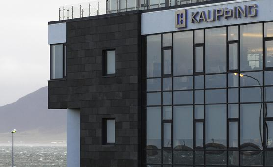 View of the headquarters of Iceland's bank Kaupthing