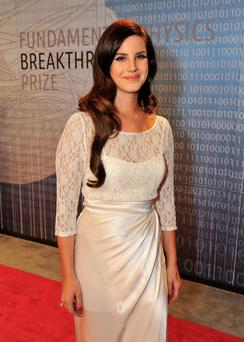 Lana del Ray pulls off the look, but could ther be Bridget Jones underwear lurking under there?
