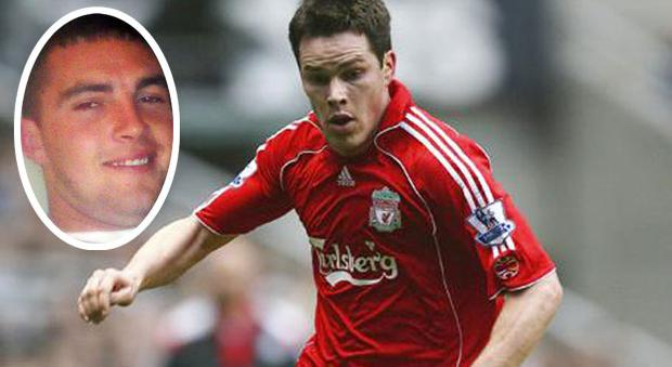 Steve Finnan in his playing days for Liverpool and (inset) his cousin Sean Finnan