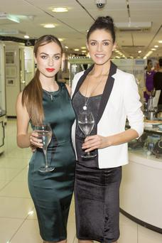 Daniella Moyles & Ruth Griffin pictured at the Newbridge Silverware Festive Fashion Evening at its Showrooms in Newbridge, Co Kildare.