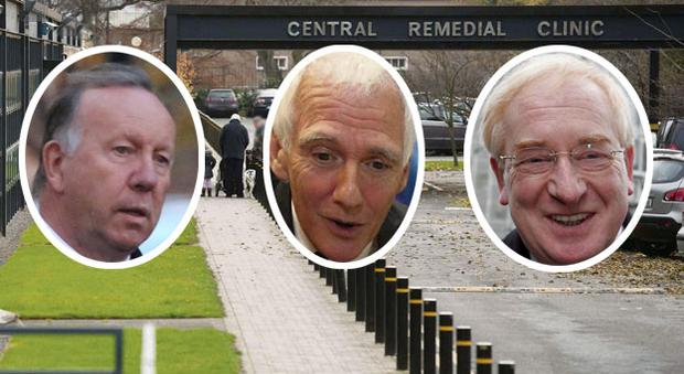 Members who have resigned from the CRC board of governors include (left to right) David Martin, Hamilton Goulding and Jim Nugent