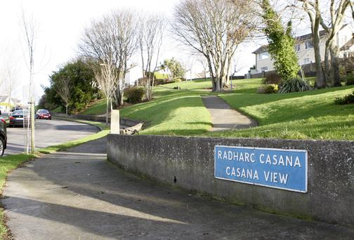 photo shows gardai at a home in Casana View Howth North Co Dublin.