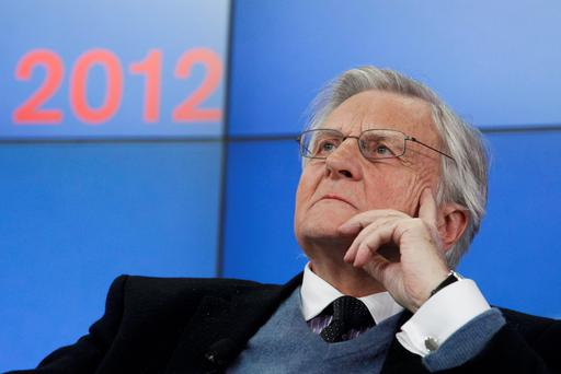 Former European Central Bank President Trichet attends a session at the World Economic Forum (WEF) in Davos